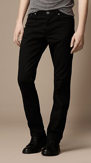 Swaine Black Tapered Fit Jeans