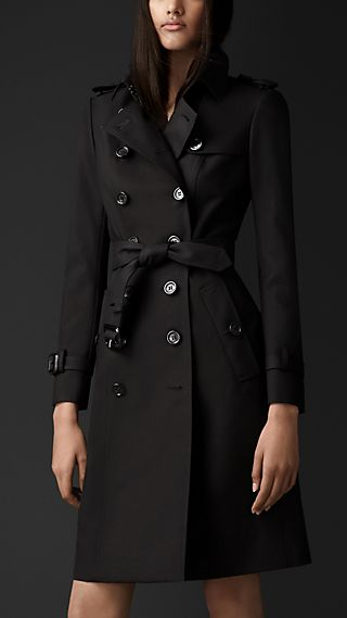 Long Double Cotton Trench Coat
