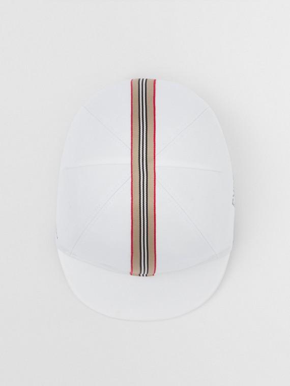 Icon Stripe Trim Coordinates Print Cotton Cap in White