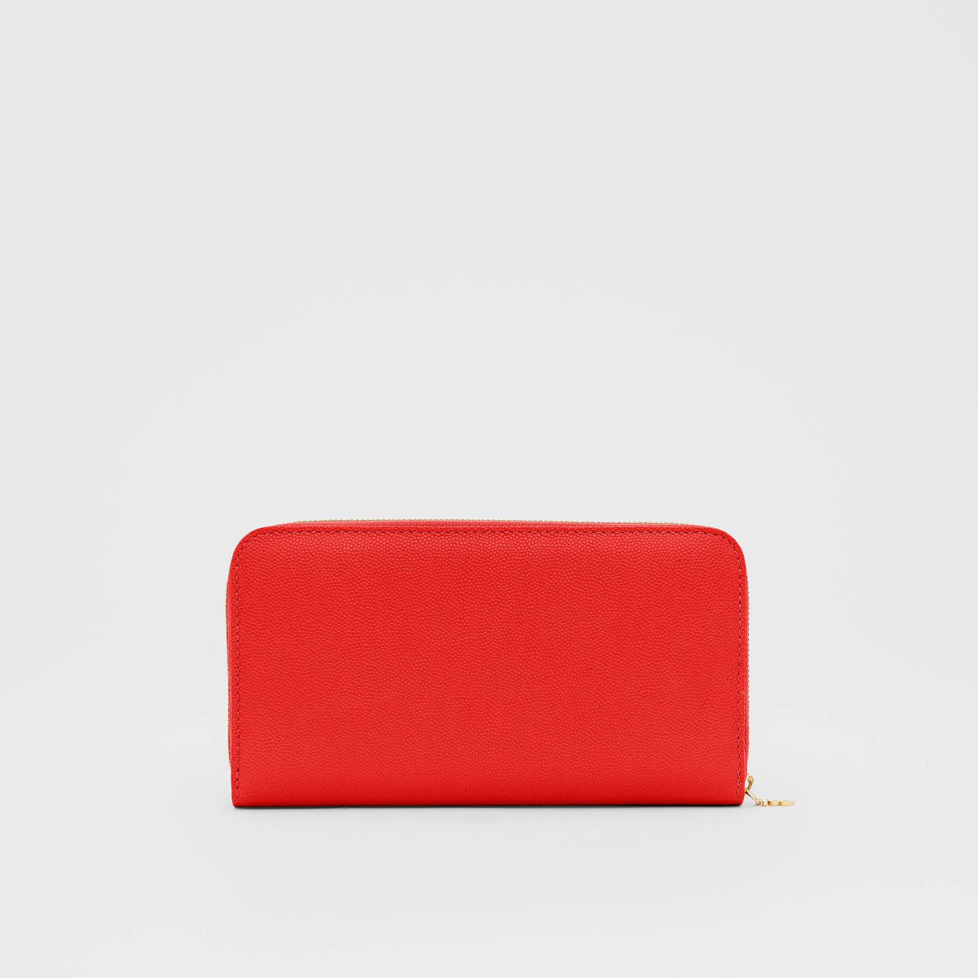 Monogram Motif Grainy Leather Ziparound Wallet in Bright Red - Women | Burberry - gallery image 5