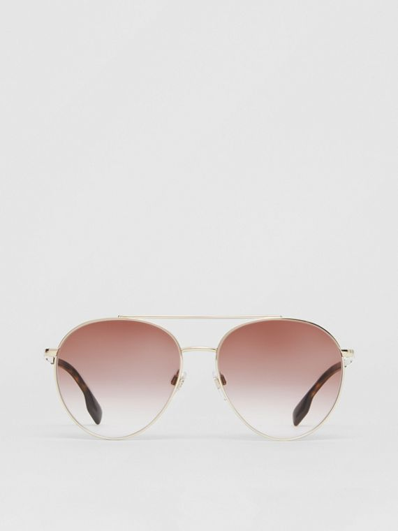 Pilot Sunglasses in Light Pink