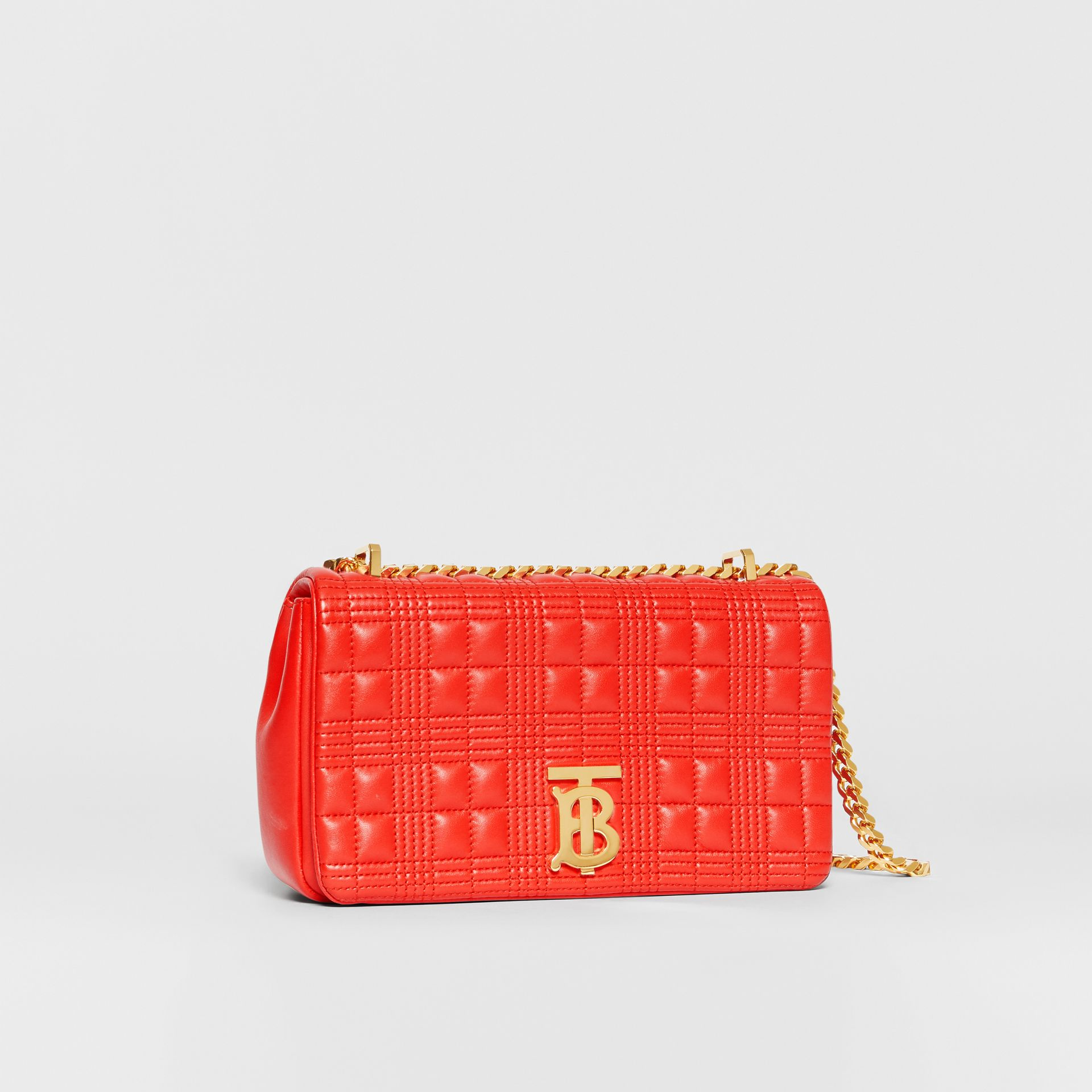 Small Quilted Lambskin Lola Bag in Bright Red - Women | Burberry United States - gallery image 6