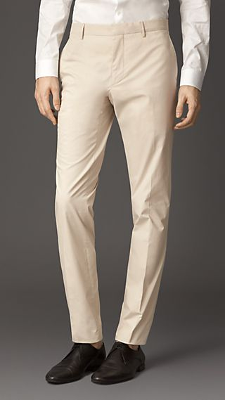 Modern Fit Cotton Poplin Trousers