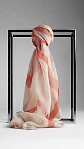 Foulard in seta e lana check