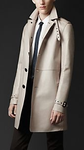 Trench coat in nappa