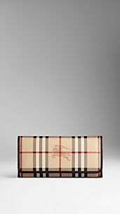 Haymarket Check Continental Wallet with Coin Purse