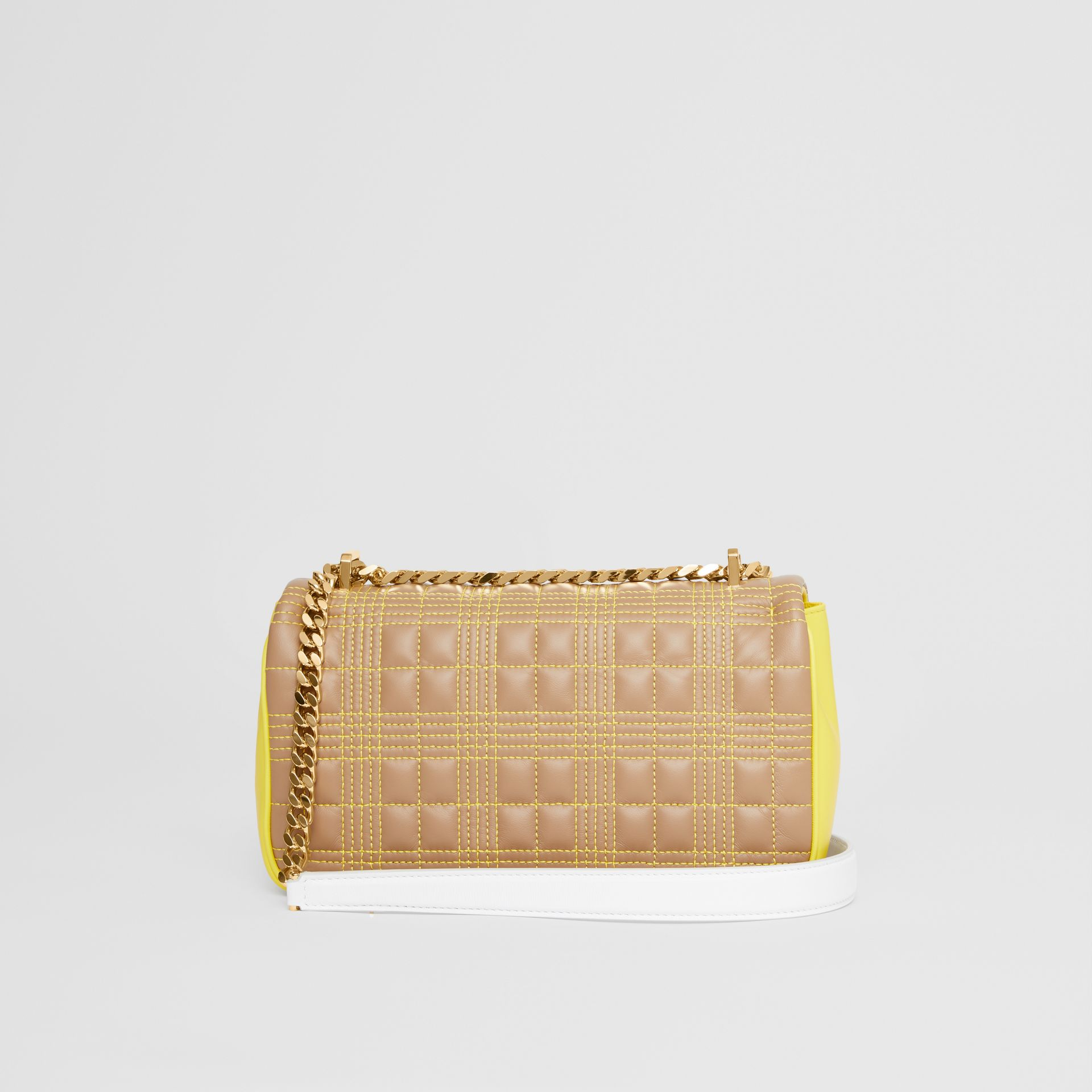Small Quilted Tri-tone Lambskin Lola Bag in Camel/yellow - Women | Burberry Canada - gallery image 7