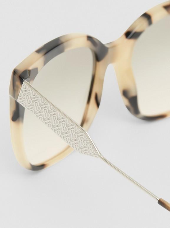 Butterfly Frame Sunglasses in Honey Tortoiseshell - Women | Burberry - cell image 1