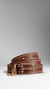Leather Equestrian Buckle Belt