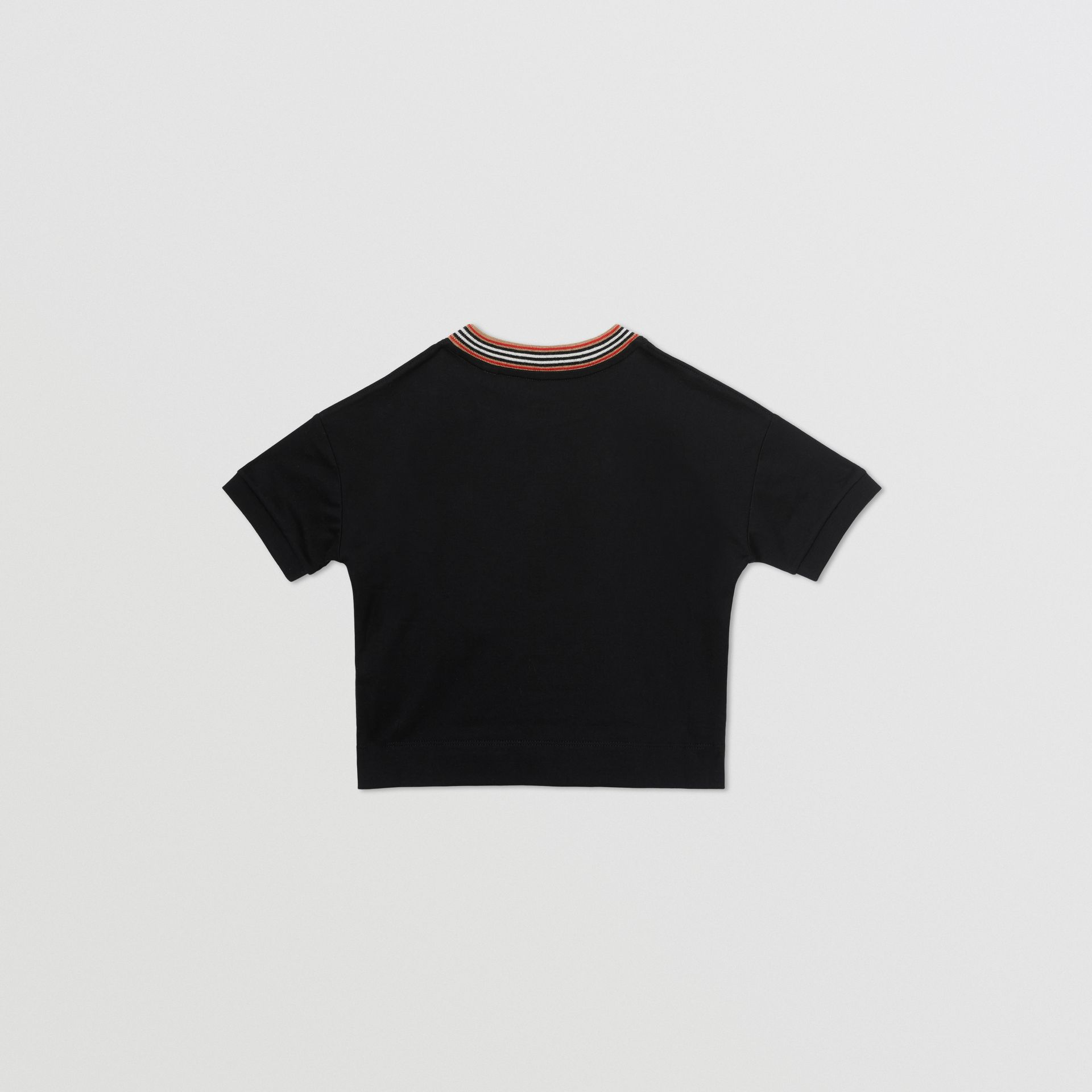Cake Print Cotton T-shirt in Black | Burberry - gallery image 3