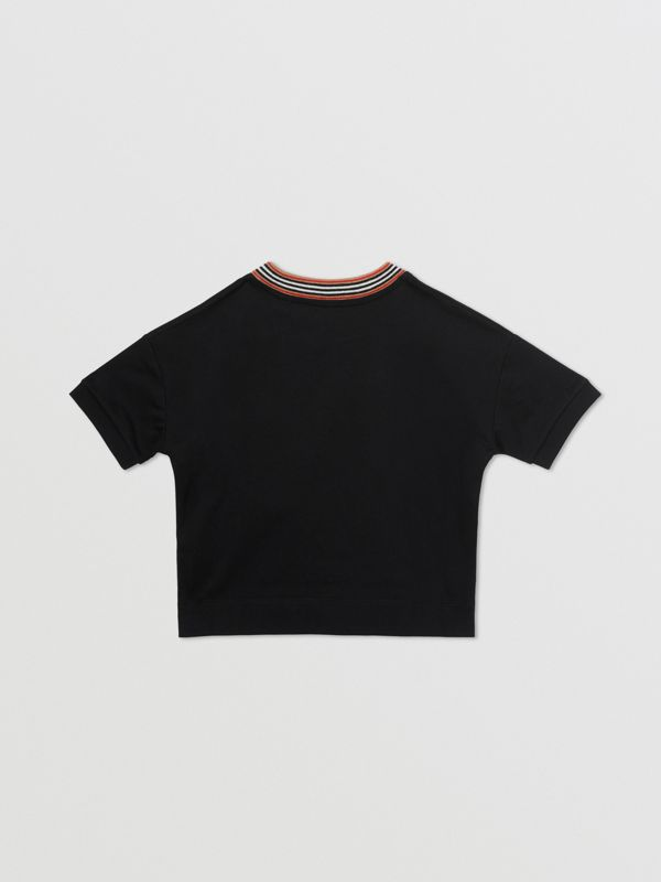 Cake Print Cotton T-shirt in Black | Burberry - cell image 3
