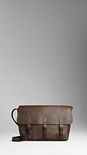Large Palmelatto Leather Messenger Bag