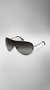 Check Detail Visor Sunglasses
