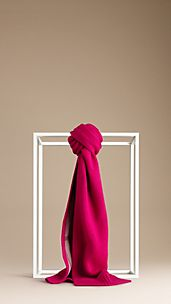Block Colour Cotton Cashmere Scarf
