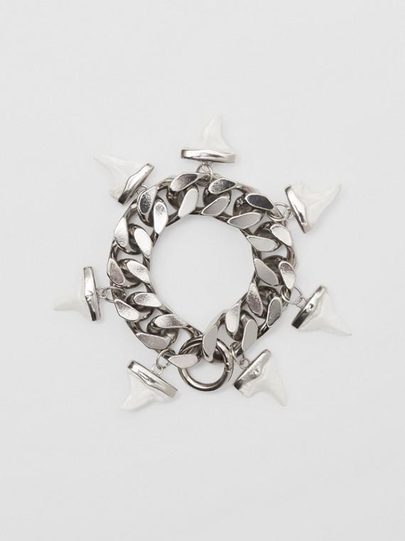 Resin Shark Detail Palladium-plated Bracelet in Silver