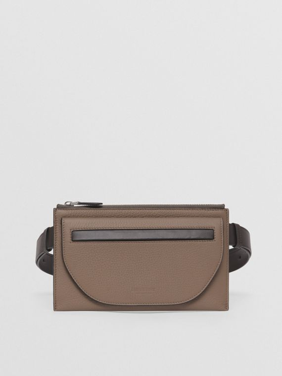 Two-tone Leather Olympia Belt Bag in Light Acorn/tan