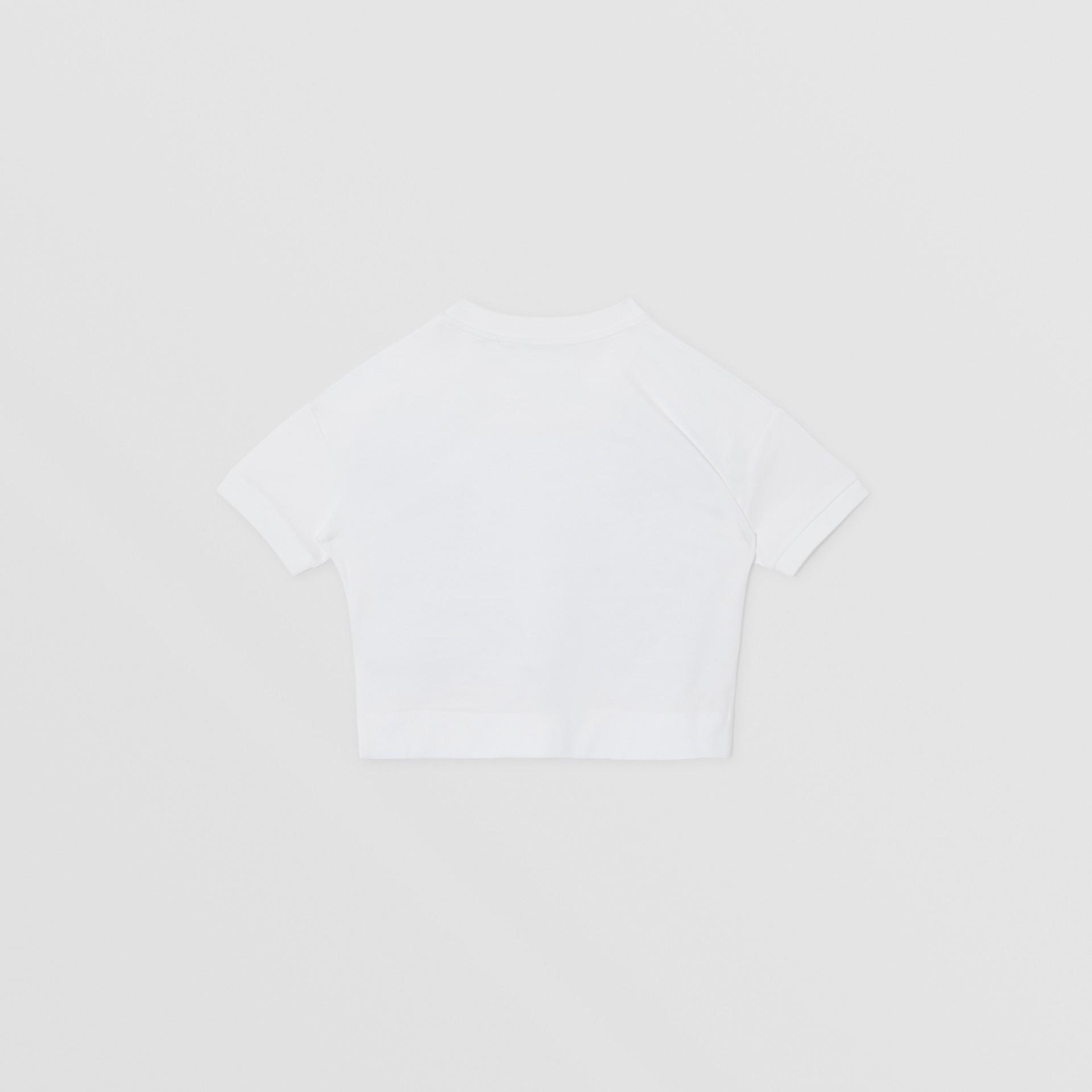 Camiseta de algodão com estampa de confeito (Branco) | Burberry - galeria de imagens 3