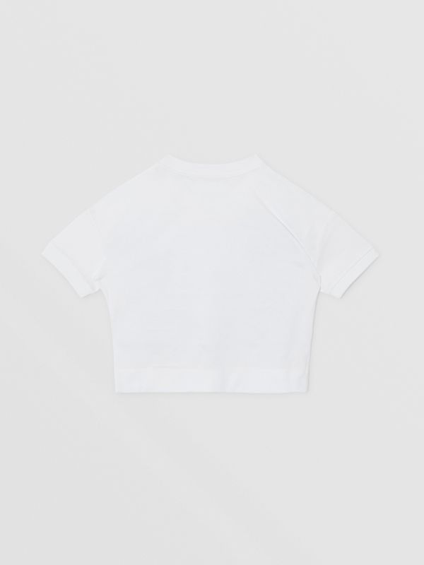 T-shirt in cotone con stampa dolciumi (Bianco) | Burberry - cell image 3