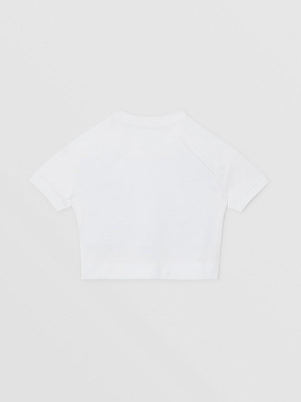 Camiseta de algodão com estampa de confeito (Branco) | Burberry - cell image 3