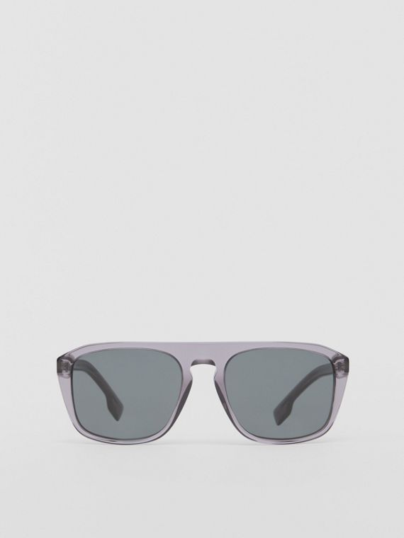 Eckige Sonnenbrille (Grau)