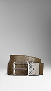 Grainy Leather Reversible Belt