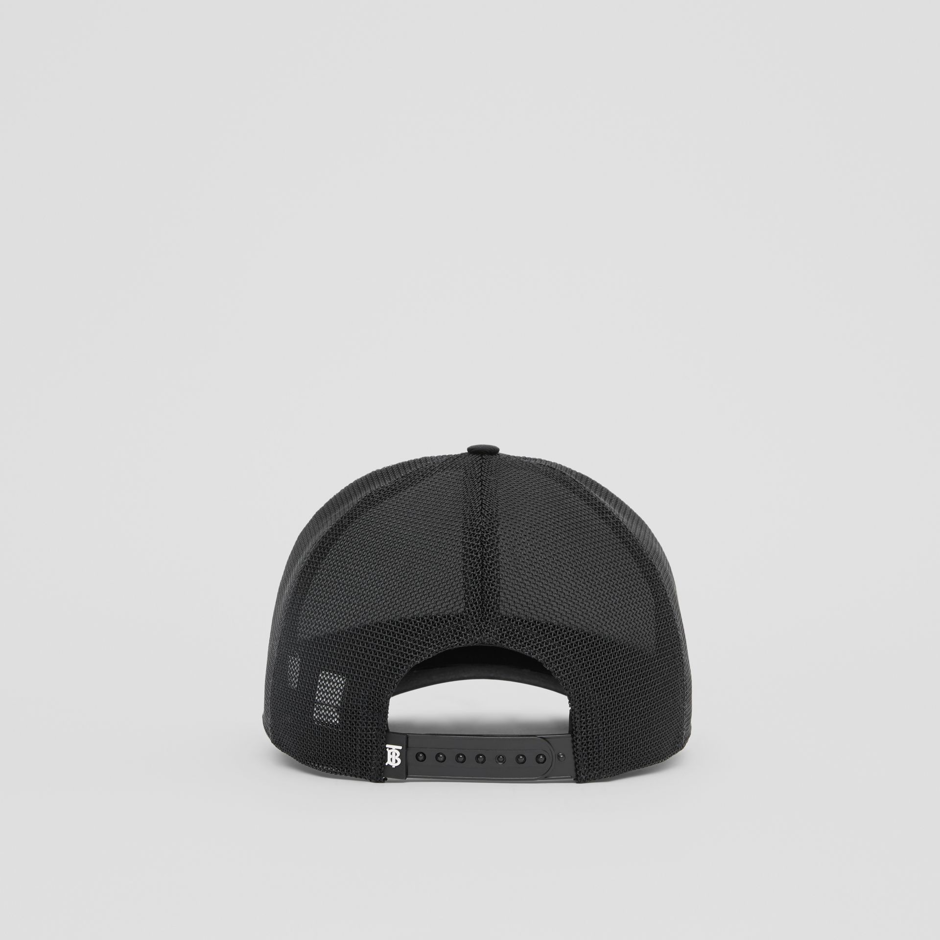 Rainbow Logo Baseball Cap in Black | Burberry United Kingdom - gallery image 5