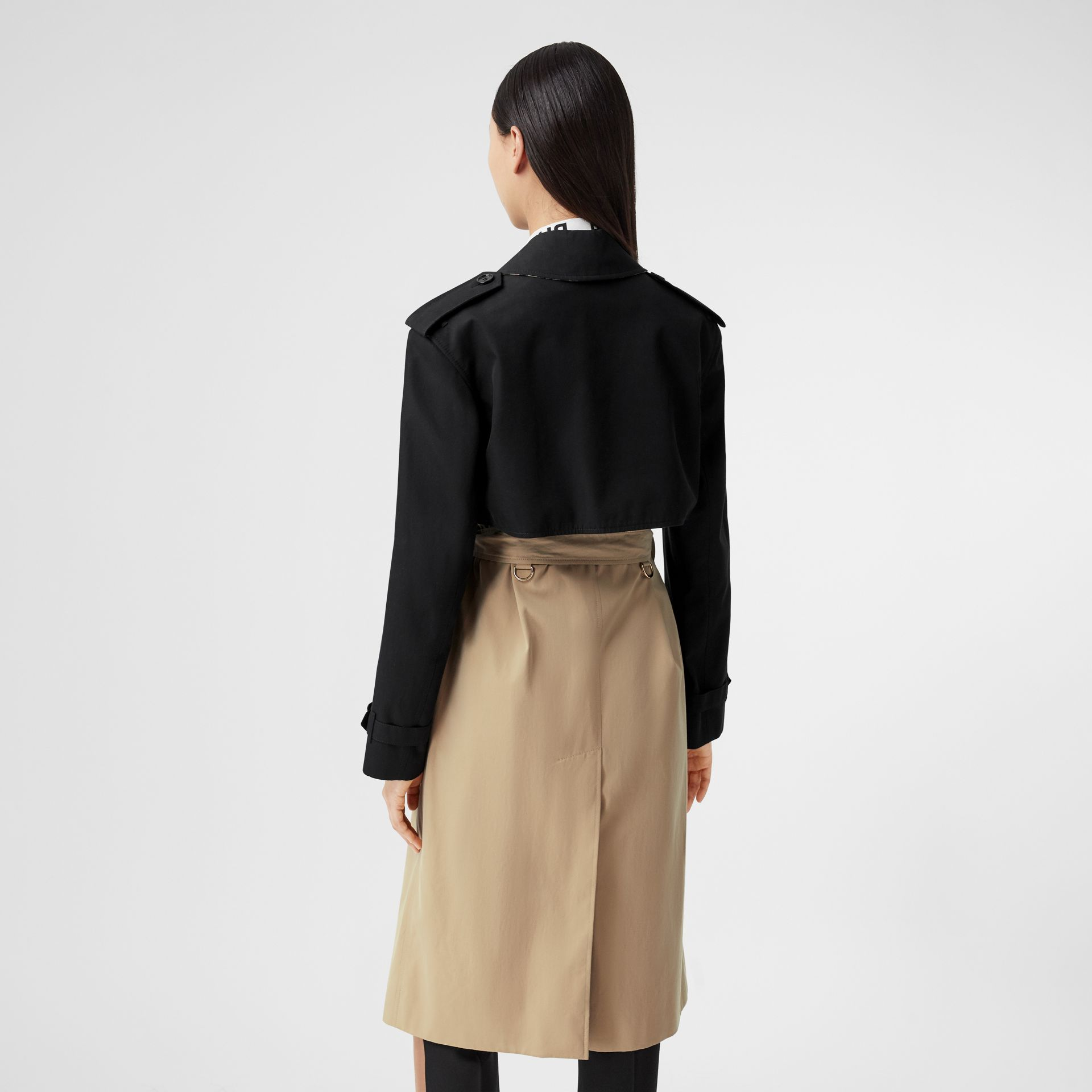 Two-tone Reconstructed Trench Coat in Black - Women | Burberry United Kingdom - gallery image 2