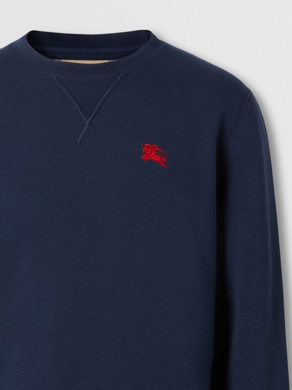 Embroidered EKD Technical Cotton Sweatshirt in Navy - Men | Burberry - cell image 1