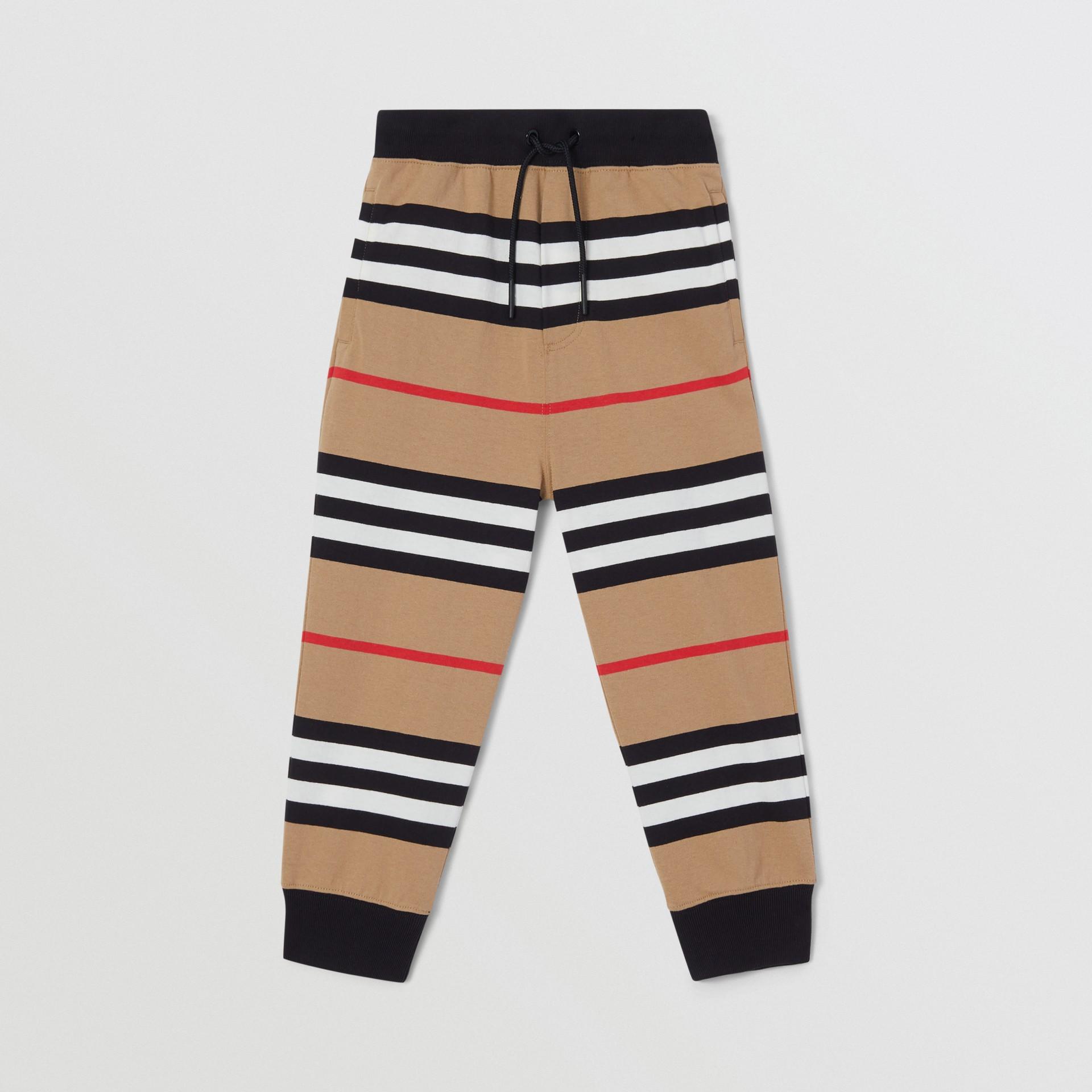 Icon Stripe Cotton Trackpants | Burberry United Kingdom - gallery image 0