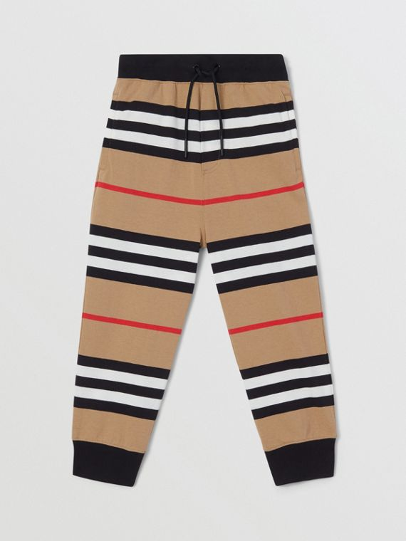 Icon Stripe Cotton Trackpants