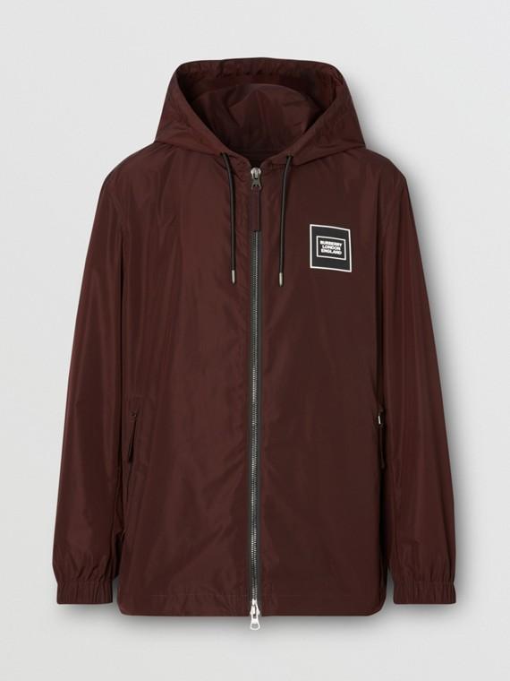 Logo Appliqué Shape-memory Taffeta Hooded Jacket in Elderberry