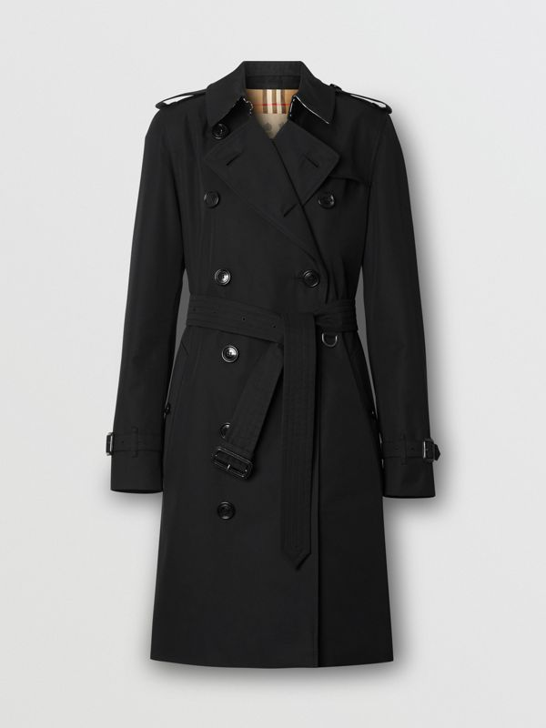 The Mid-length Kensington Heritage Trench Coat in Black - Women | Burberry - cell image 3