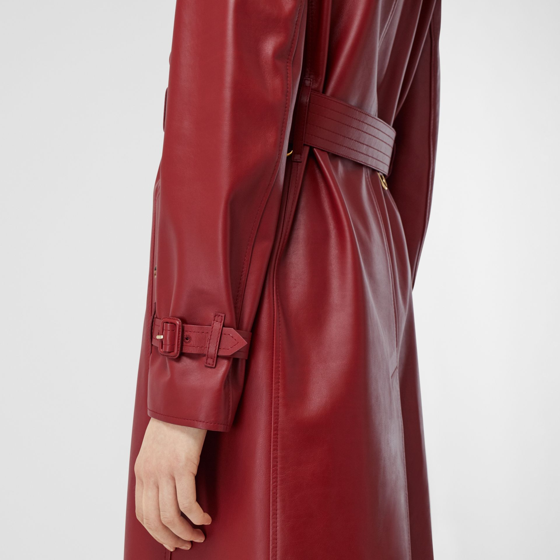 Leather Trench Coat - Women | Burberry - gallery image 4