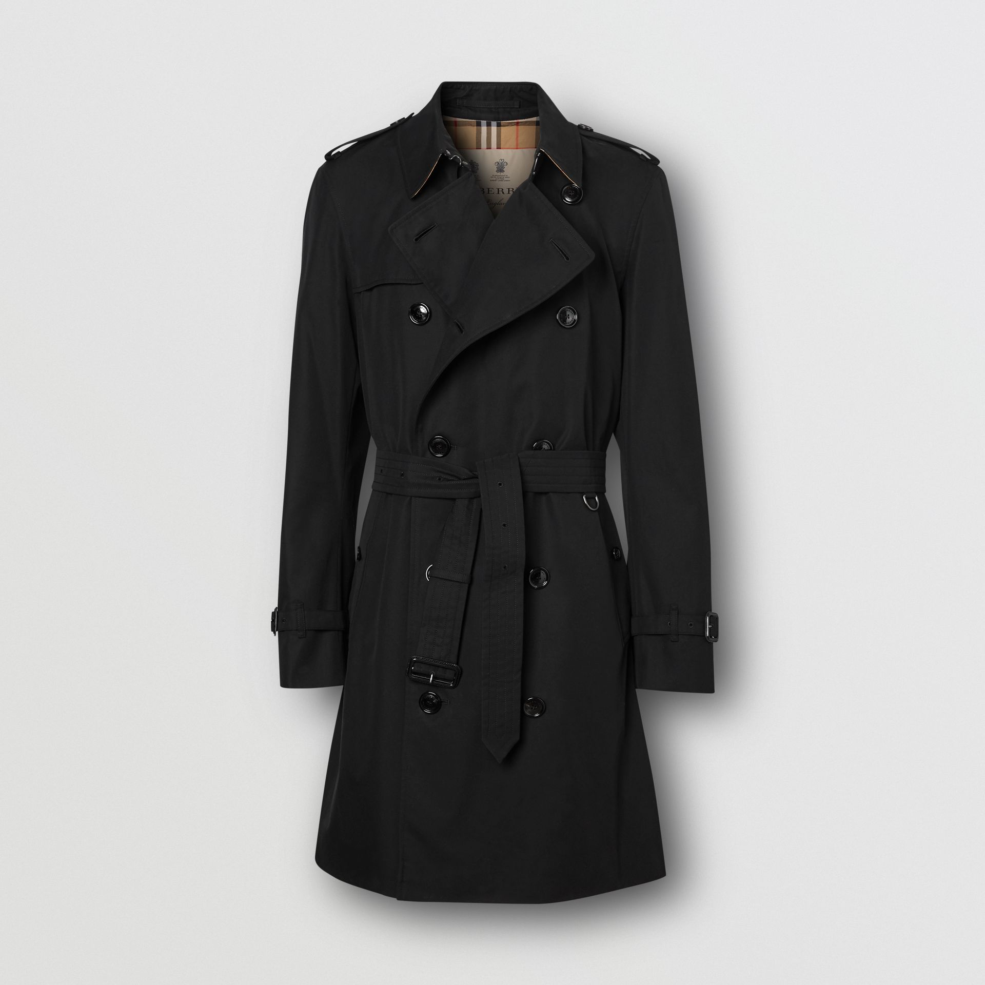 The Mid-length Chelsea Heritage Trench Coat in Black - Men | Burberry United Kingdom - gallery image 3