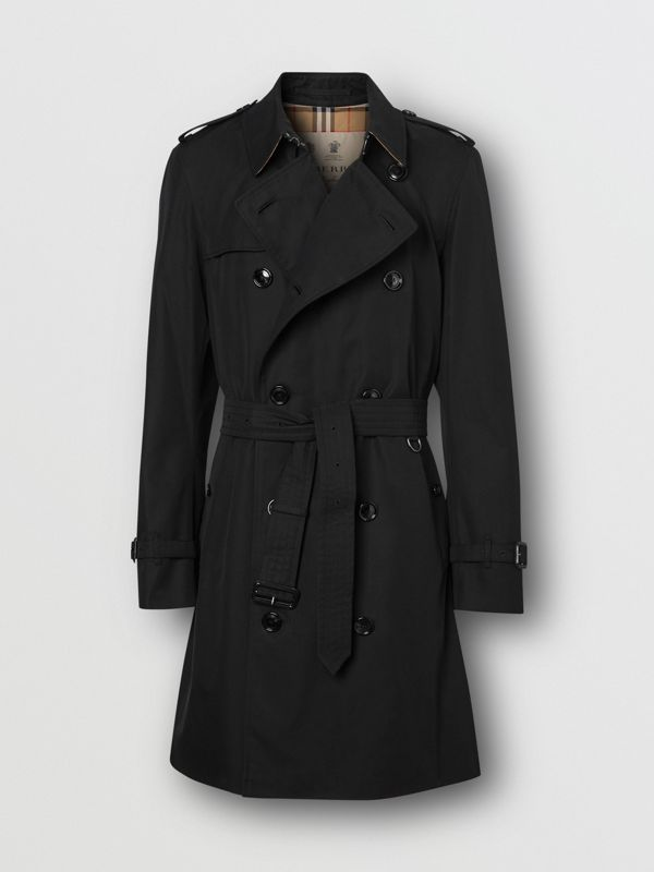 The Mid-length Chelsea Heritage Trench Coat in Black - Men | Burberry - cell image 3