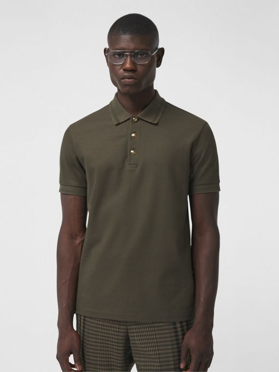 Poloshirt aus Baumwollpiqué (Dunkles Olivgrün)