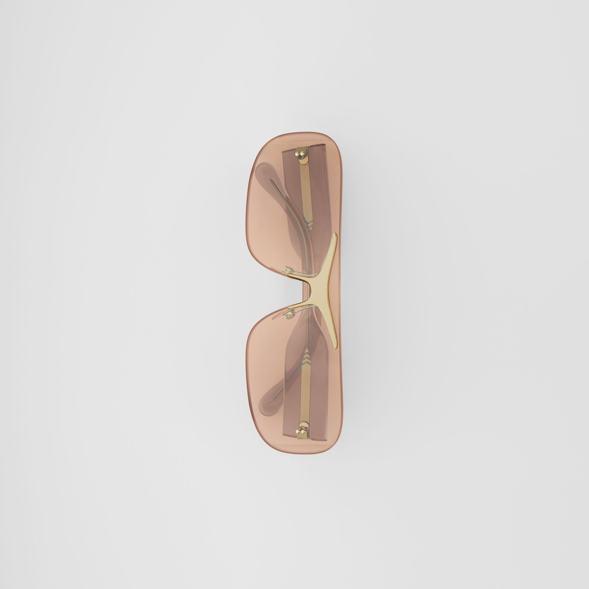Blake Shield Sunglasses in Light Brown | Burberry - gallery image 4