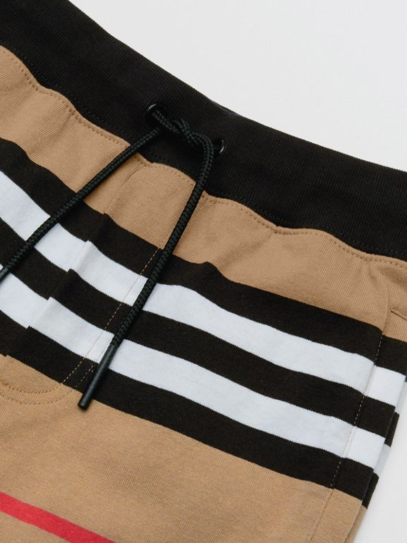 Icon Stripe Cotton Trackpants | Burberry United Kingdom - cell image 1