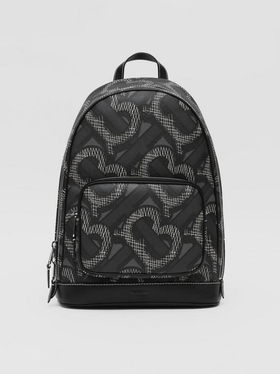 Рюкзак из ткани e-canvas с монограммой (Графит)