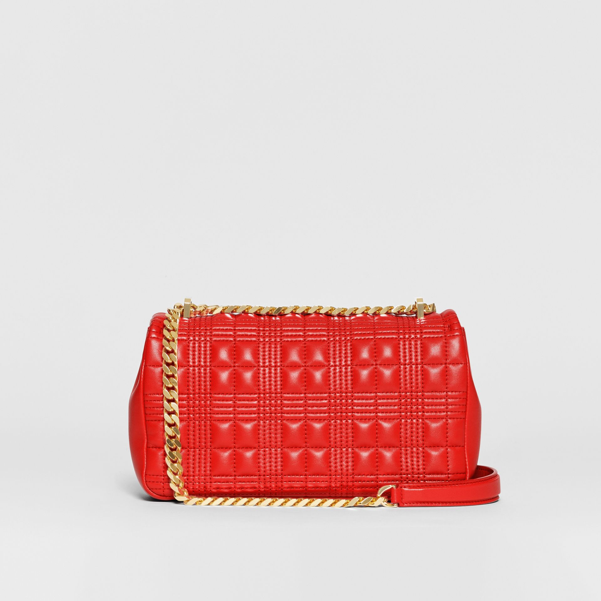 Small Quilted Lambskin Lola Bag in Bright Red - Women | Burberry - gallery image 7