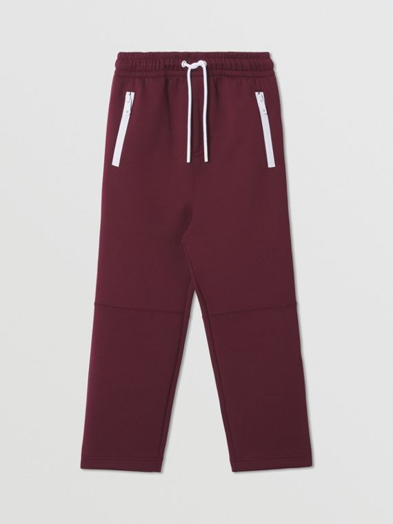 Stretch Jersey Jogging Pants in Oxblood