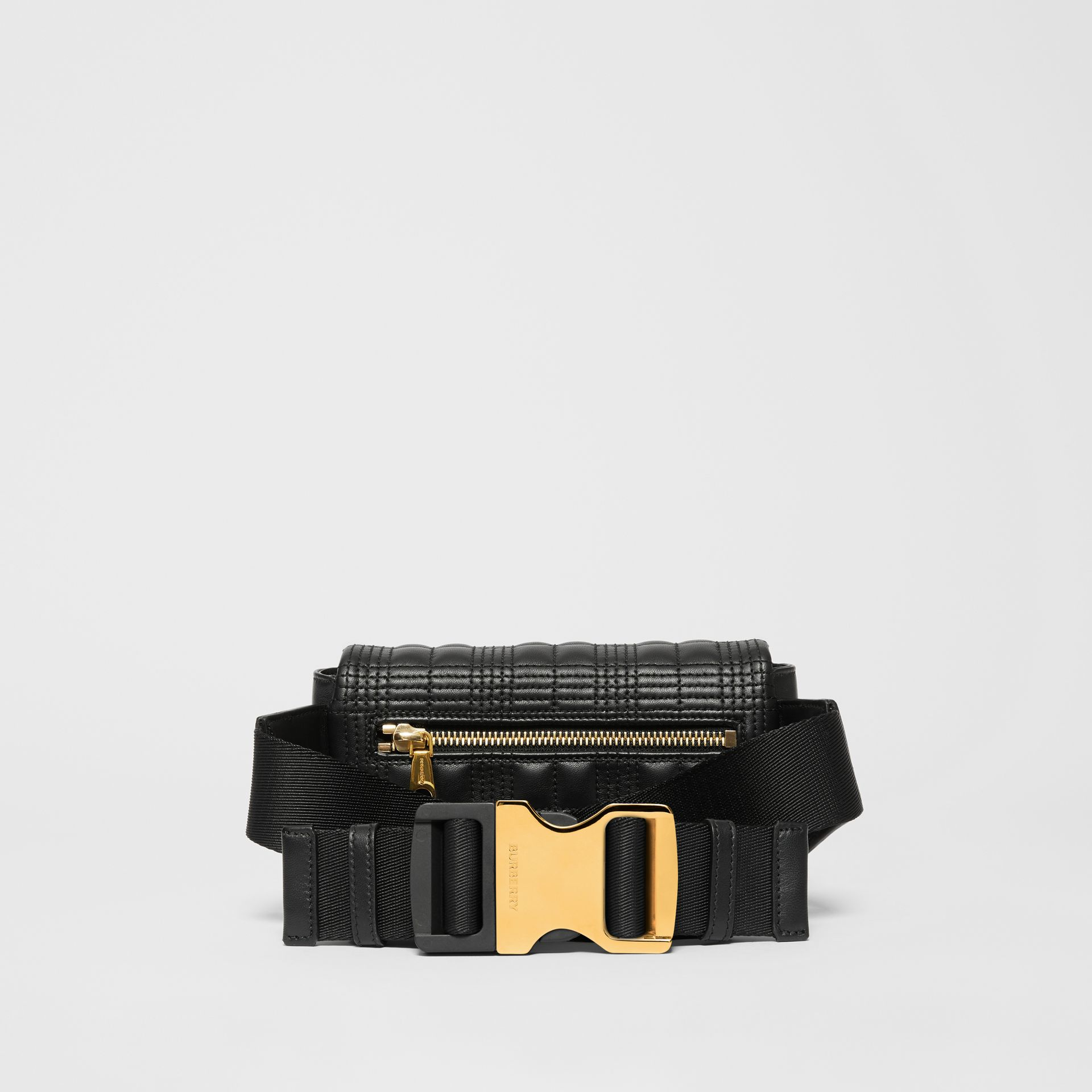 Quilted Lambskin Lola Bum Bag in Black - Women | Burberry - gallery image 9