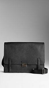 Bolso messenger grande en cuero London