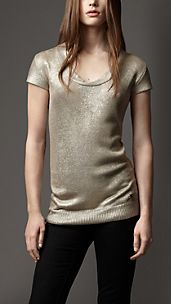 Metallic Silk Knitted  Top