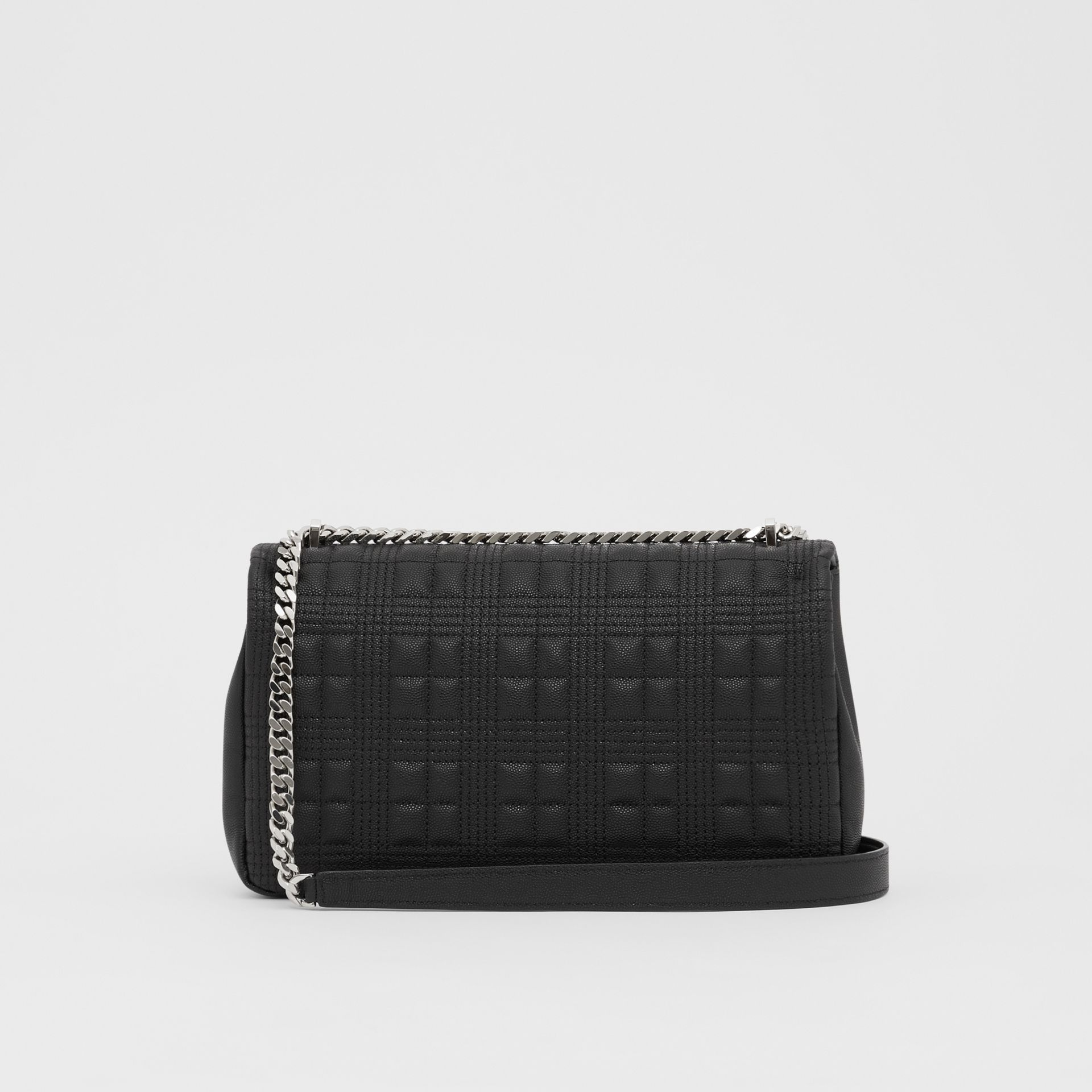 Medium Quilted Grainy Leather Lola Bag in Black/palladium - Women | Burberry United Kingdom - gallery image 7