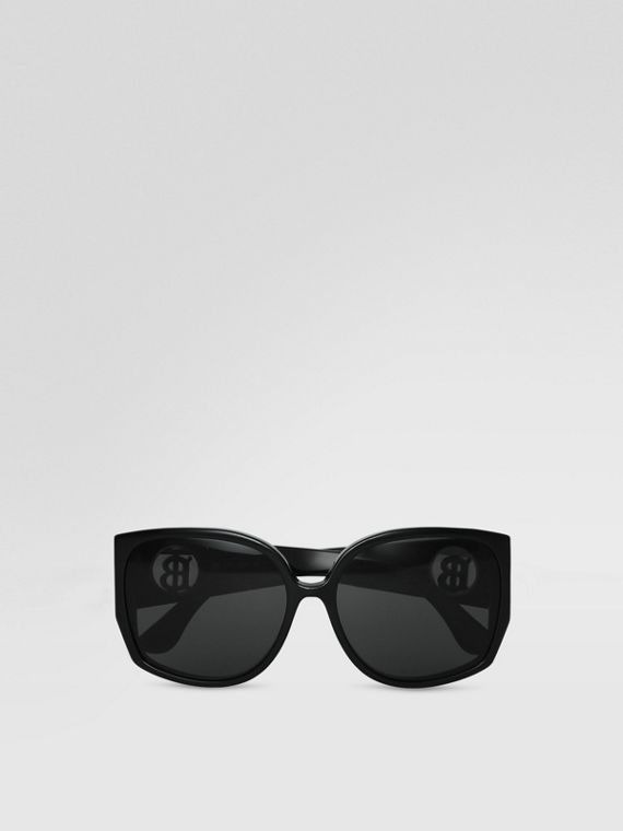 Oversized Butterfly Frame Sunglasses in Black