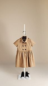 Trench Detail Cotton Dress