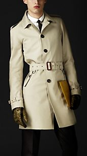 Trench coat de algodón con costuras selladas