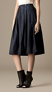 Martingale Detail Taffeta Skirt