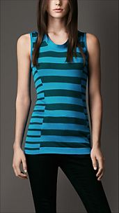Multi-Stripe Silk Linen Vest